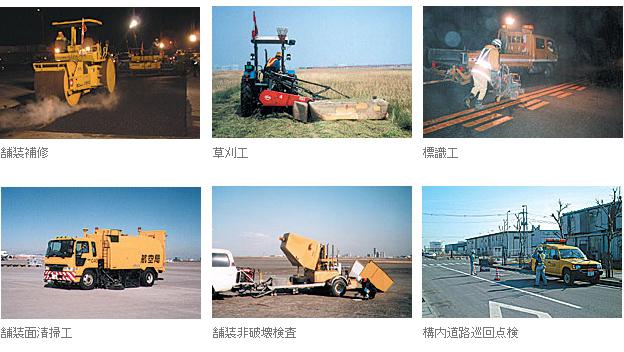 滑走路・誘導路・エプロン・構内道路など土木施設の維持管理